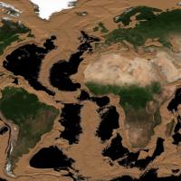 Как будет выглядеть Земля, если высохнут все океаны (видео)