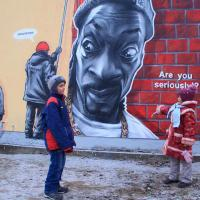В Витебске появилось граффити о том, как ЖКХ закрашивает граффити (обновлено)