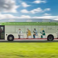 """Первый """"автобус на фекалиях"""" вышел на линию в Бристоле"""