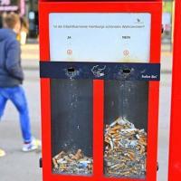 В Гамбурге установили необычную урну для сигаретных окурков: что она умеет
