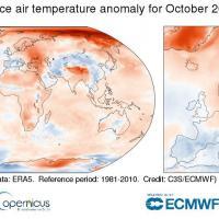 Октябрь 2020 года оказался самым жарким для Европы за всю историю наблюдений