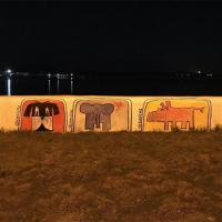 Фотофакт. На Минском море появился стрит-арт в поддержку животных Австралии