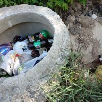 Кто виноват? В речку Лососянка во время ливней несутся нечистоты и мусор (видео)