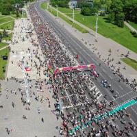 Фото и видео! Как выглядел велокарнавал «Viva Ровар» с высоты птичьего полёта