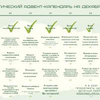 Адвент-календарь от Зелёного портала. Выполняем задания и фокусируемся на хорошем