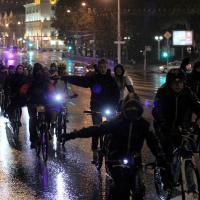 Дзень без аўто: 200 веласіпедыстаў праехалі па галоўнаму праспекту сталіцы