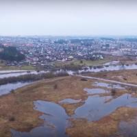 Неман с высоты птичьего полёта: невероятные кадры разлива реки