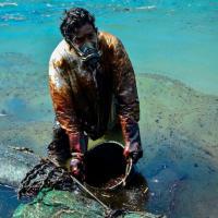 Танкер раскололся пополам. На острове Маврикий продолжается разлив нефти