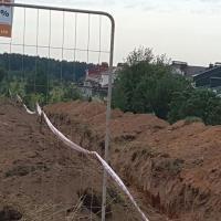 Траншея в Куропатах. Местные жители сообщают, что начаты работы по прокладке кабеля
