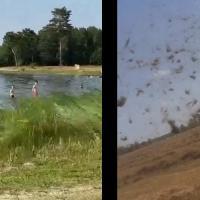 В Ганцевичах и районе очевидцы сообщают о редких природных явлениях