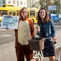 В Минске велосипедистам будут раздавать фрукты. Традиционная акция на «На работу на велосипеде» состоится во вторник в шести точках Минска