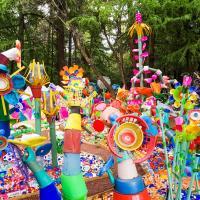 Зачем датский художник превратил 3 тонны пластиковых отходов в красочный лес в Мексике?