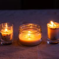 Лайфхак. Самодельные свечи из пальмового воска с лавандой, суданской розой и розмарином