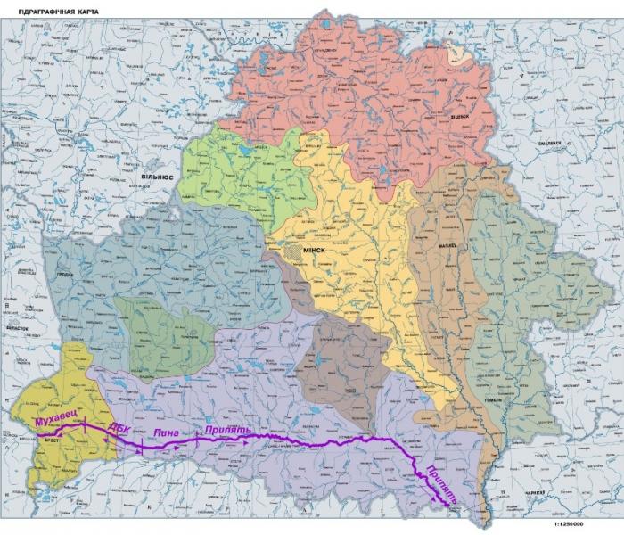 Беларусский участок международного водного пути E-40
