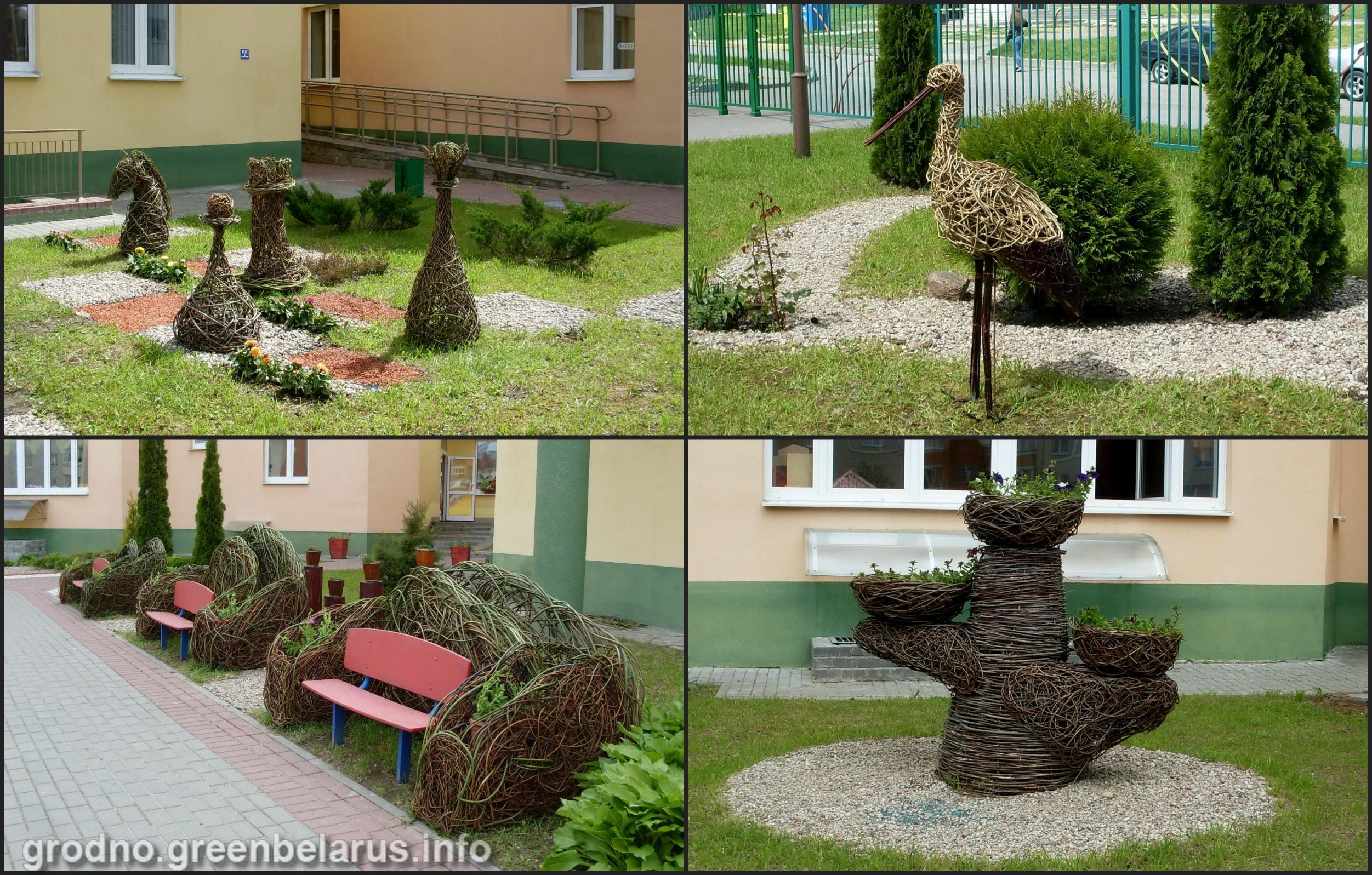 Скульптуры Яўгена Блудава ў дзіцячым садку №101