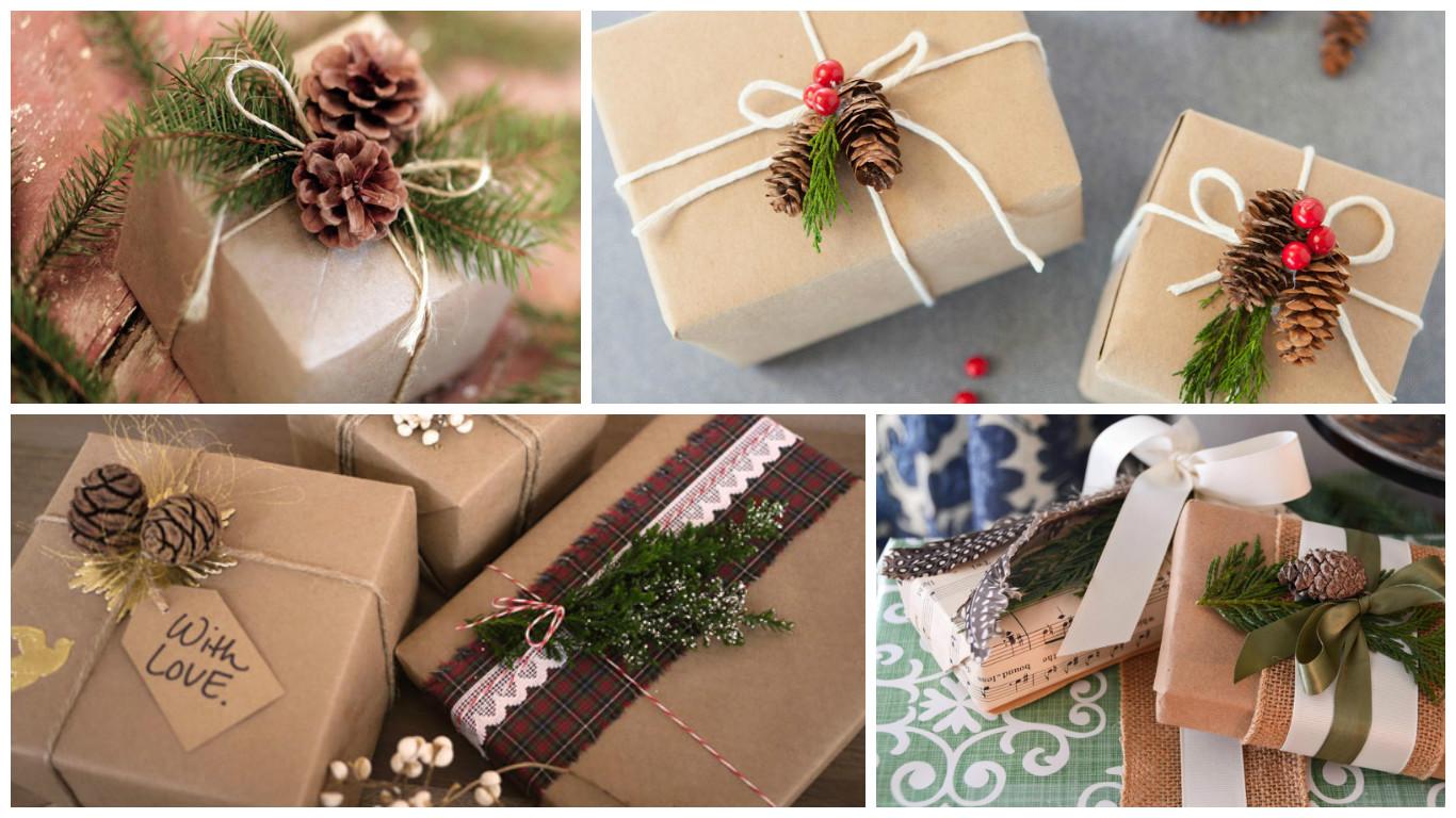 Оформить подарок по новогоднему