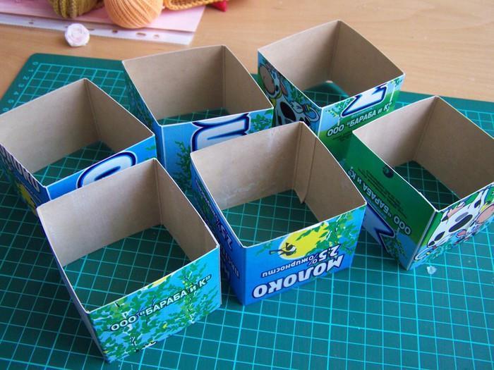 Как сделать из коробки из под сока