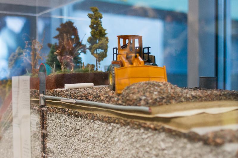 Снимок макета на заводе по сжиганию мусора в Тампере, Финляндия