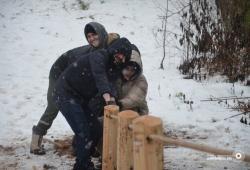 Першы крок да добраўпарадкавання: у Котаўцы ўсталявалі пад'ёмнік на горку