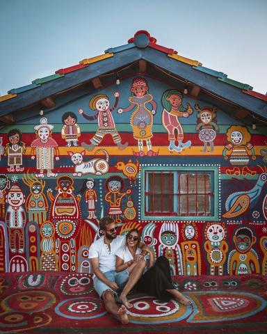 Пожилой тайванец спас свою деревню от разрушения, превратив её в произведение искусства