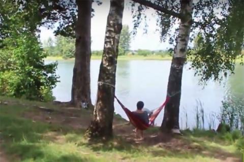 Место для отдыха или пробежек. Экологическая тропа «Цна»