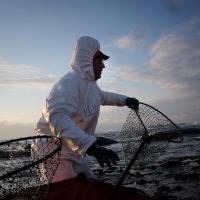 Разлив нефти на Сахалине: волонтёры спасают побережье Невельска (фоторепортаж)