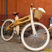 В Беларуси начали выпускать деревянные велосипеды ручной работы
