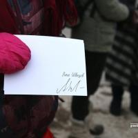 Зялёная зона па вуліцы Філімонава «набыла» свайго вечнага абаронцу Анатоля Швяцова