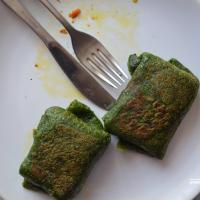 VeganFood: Шпінатныя блінцы з грыбной начынкай для сытнага абеду