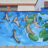 Экологические граффити появились в Минске