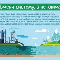 Вышли плакаты на тему глобального потепления «Измени систему, а не климат!»