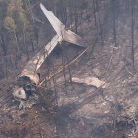 Самолёт МЧС России разбился во время тушения лесных пожаров (видео)
