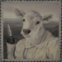 Веганство в картинах: итальянская художница поменяла местами животных и людей