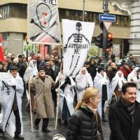 Фотофакт: националисты в Вильнюсе протестовали против Беларусской АЭС
