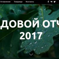 Зелёная сеть выпустила годовой отчет (бонусом - тест)