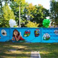В одном из дворов Минска появился новый арт-объект «Зелёный город»