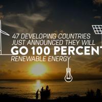 47 стран планируют перейти к 100% использованию возобновляемых источников энергии