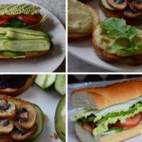 VeganFood: Сэндвіч з гароднінай і намазкі на хлеб для паўнавартаснага перакусу ў дарозе