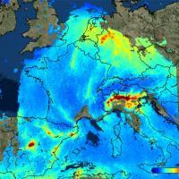 Новый спутник Sentinel отслеживает загрязнение воздуха