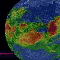 3D-глобус показывает уровень загрязнения воздуха в реальном времени