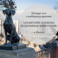 Конкурс эссе в поддержку проекта «Памятник-копилка бездомным животным в минске»