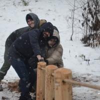 Да сезона санак у Котаўцы ўсталявалі пад'ёмнік на горку (фотарэпартаж)