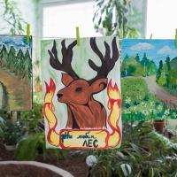 Детские рисунки на конкурс «Мой родной лес» украсили календарь на 2016 год