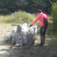 Карьер в Обуховичах, что около Гродно, очистили от мусора