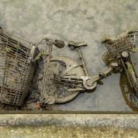 В Париже осушили канал Сен-Мартен и нашли десятки велосипедов (фото)