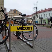 Компания velcom в рамках проекта velocity установила в Гродно шесть новых велопарковок