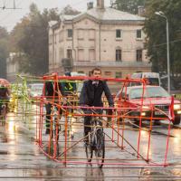 Бамбуковый велопробег провели в Риге против пробок и выхлопных газов
