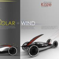 Автомобиль-парус использует только энергию ветра и солнца
